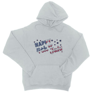 4Th July Usa Text Flag College Hoodie Apparel Flagdesignproducts.com