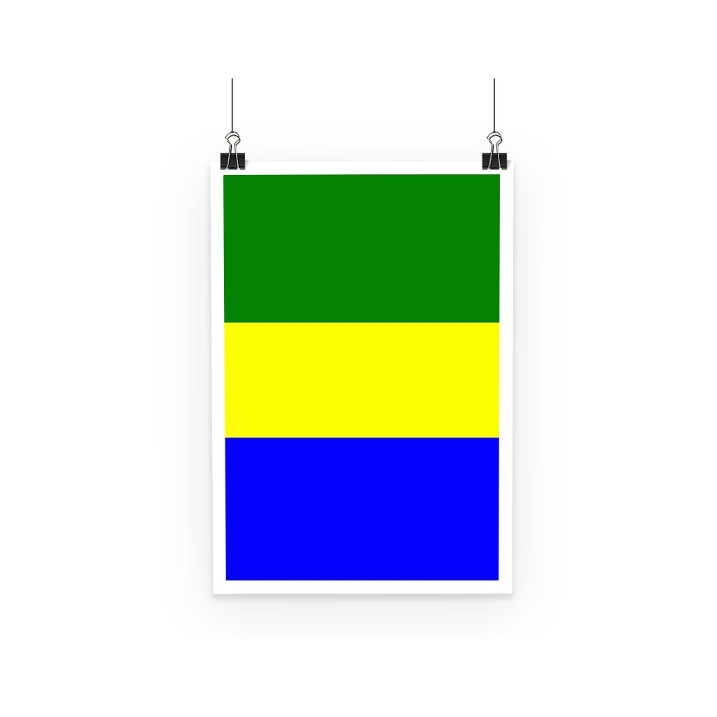 Flag Of Gabon Poster Wall Decor Flagdesignproducts.com