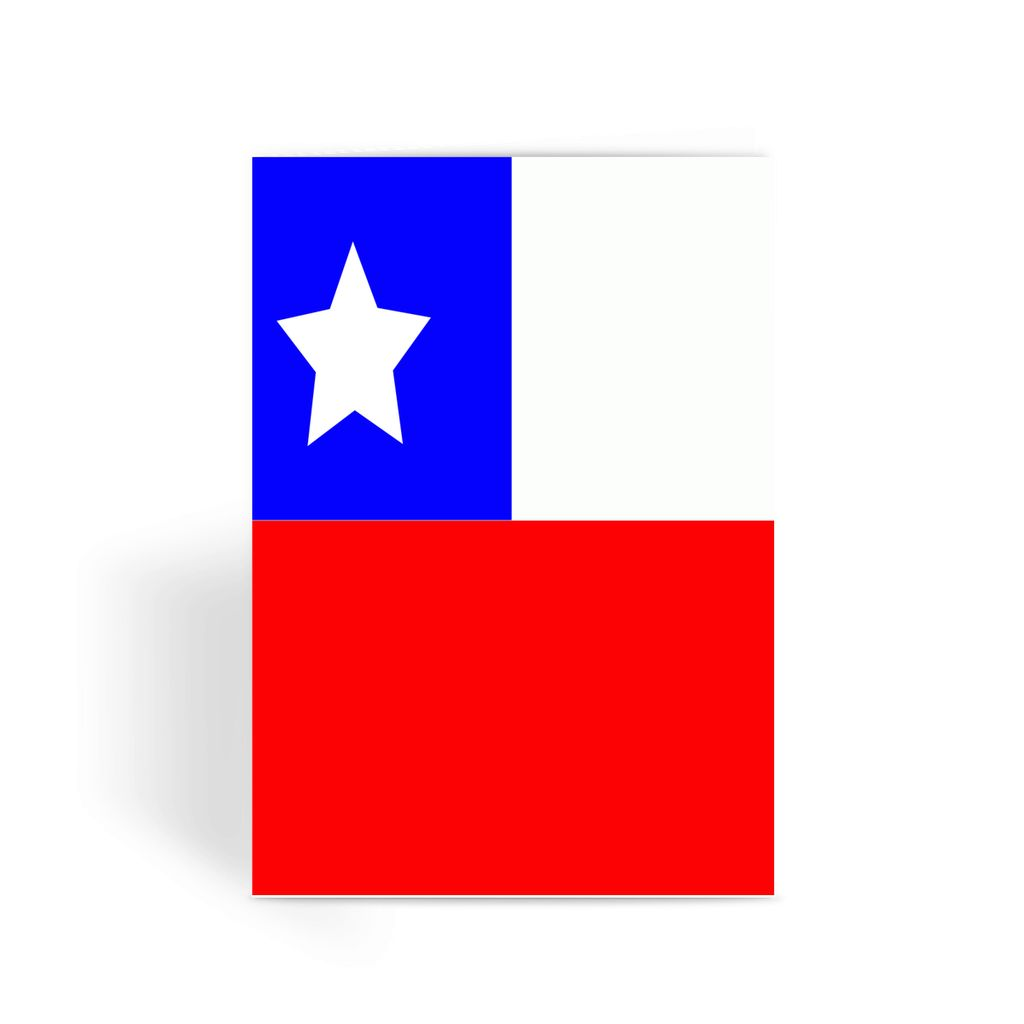 Flag Of Chile Greeting Card Prints Flagdesignproducts.com
