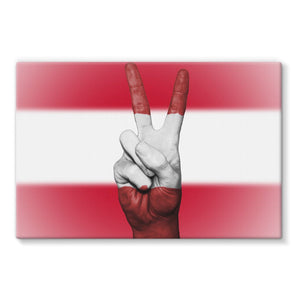 Austria Flag And Hand Stretched Eco-Canvas Wall Decor Flagdesignproducts.com