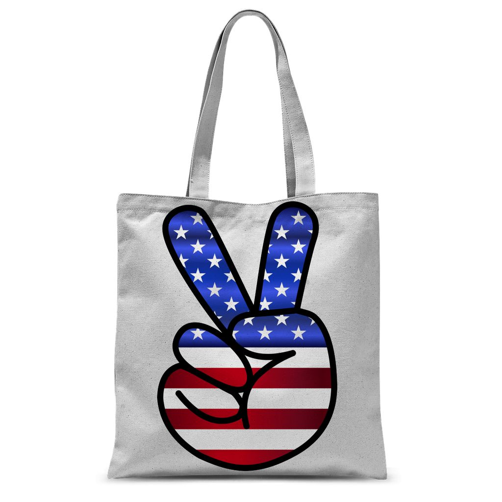 America Fingers Flag Sublimation Tote Bag Accessories Flagdesignproducts.com