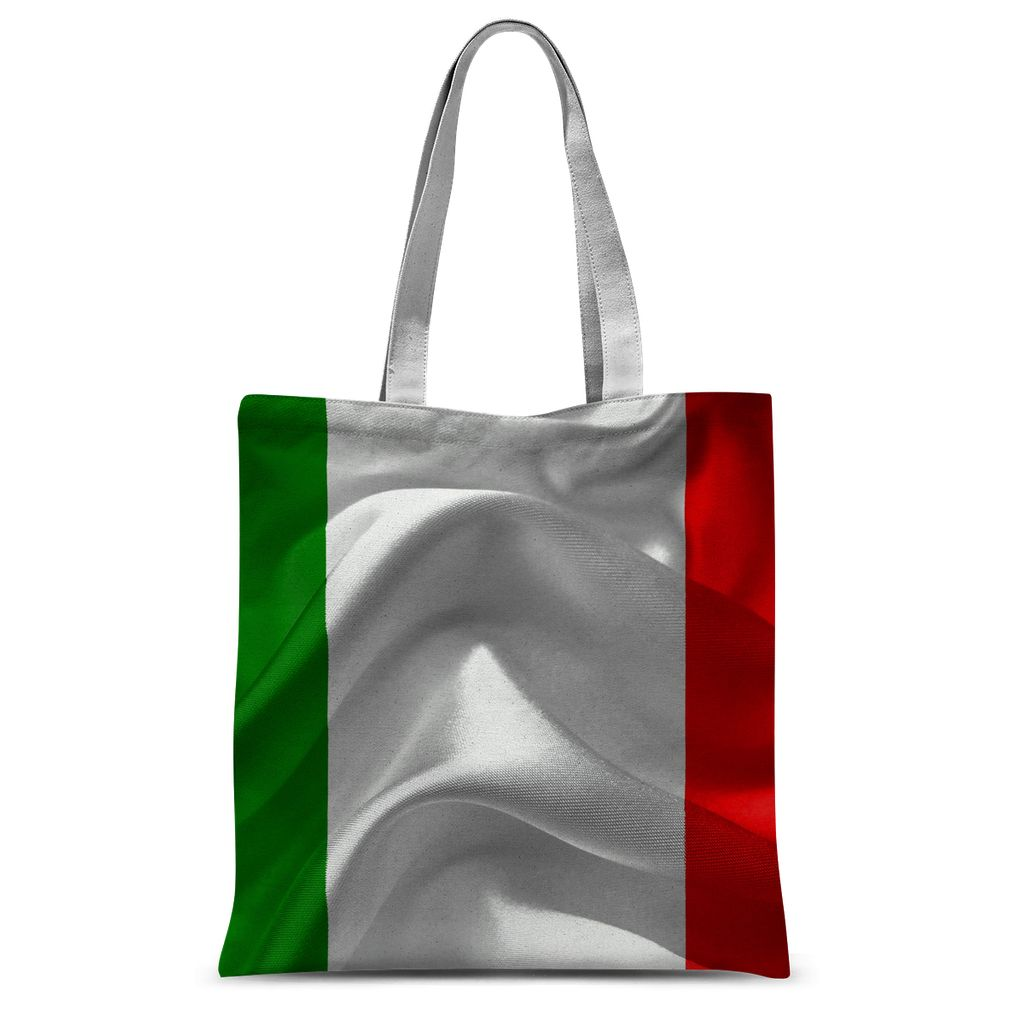 Waving Italy Fabric Flag Sublimation Tote Bag Accessories Flagdesignproducts.com