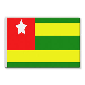 Flag Of Togo Stretched Eco-Canvas Wall Decor Flagdesignproducts.com