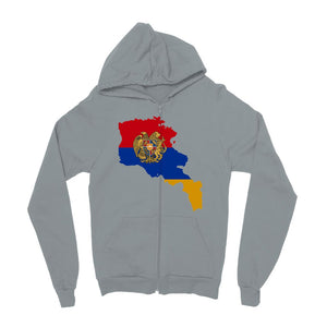 Armenia Continent Flag Kids Zip Hoodie Apparel Flagdesignproducts.com