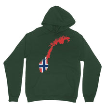 Norway Continent Flag Heavy Blend Hooded Sweatshirt Apparel Flagdesignproducts.com