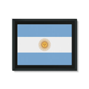 Argentina Flag Framed Eco-Canvas Wall Decor Flagdesignproducts.com