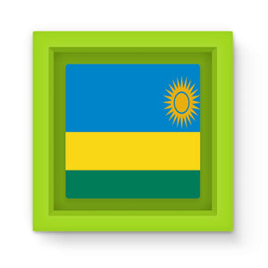 Flag Of Rwanda Magnet Frame Homeware Flagdesignproducts.com