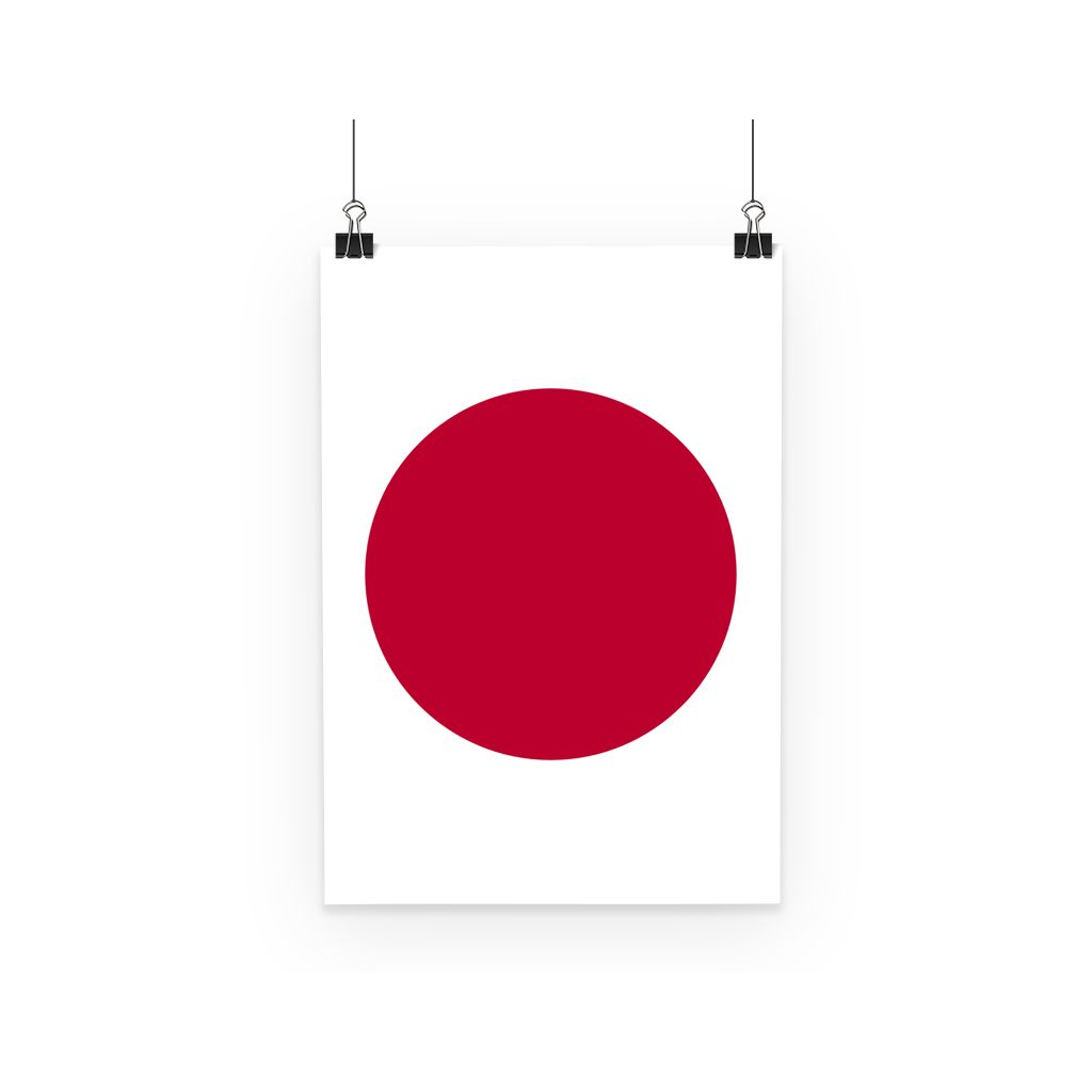 Basic Japan Flag Poster Wall Decor Flagdesignproducts.com