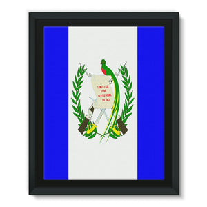 Flag Of Guatemala Framed Eco-Canvas Wall Decor Flagdesignproducts.com