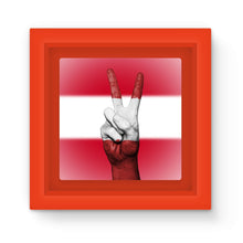 Austria Flag And Hand Magnet Frame Homeware Flagdesignproducts.com