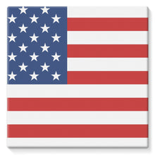 Basic America Flag Stretched Canvas Wall Decor Flagdesignproducts.com