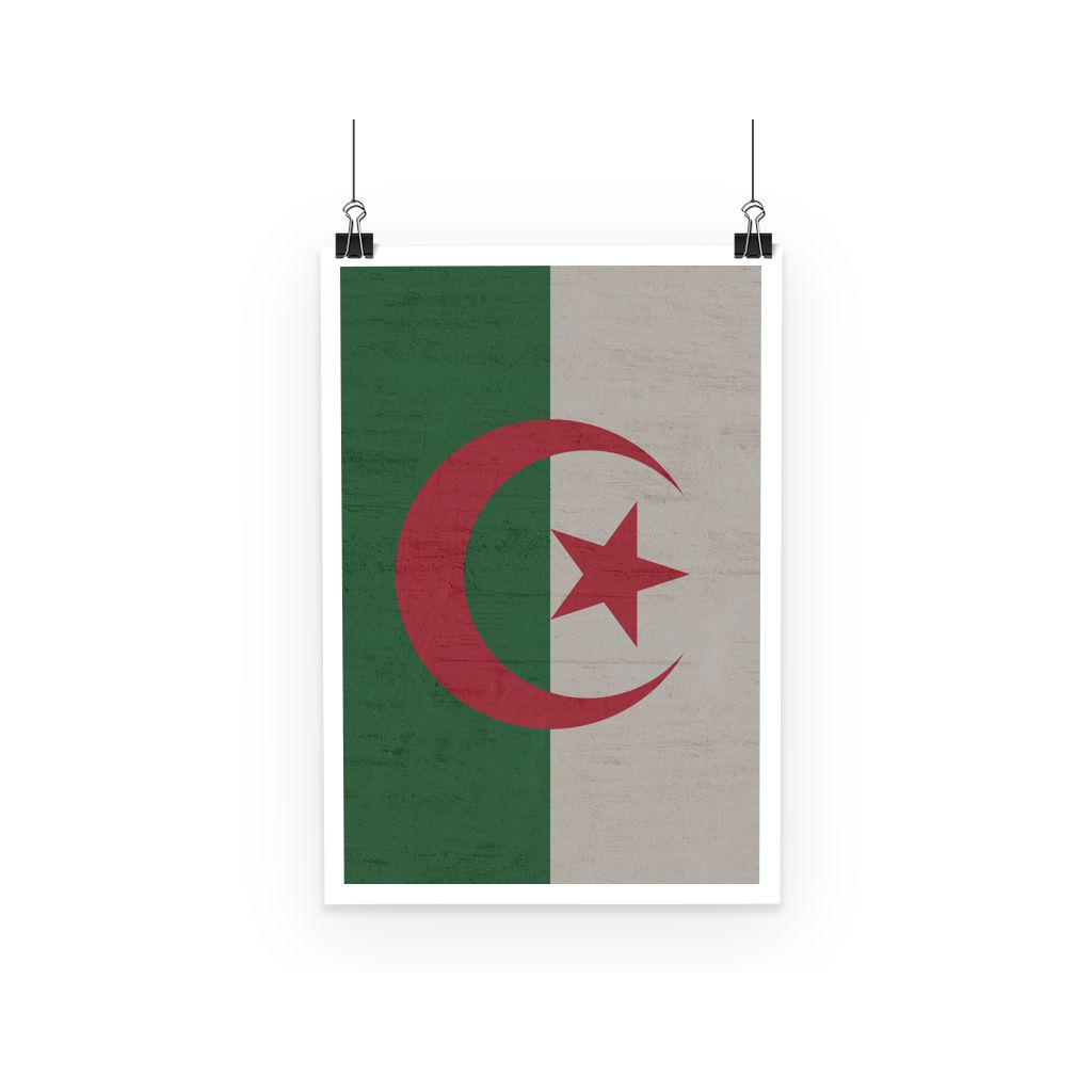 Algeria Stone Wall Flag Poster Decor Flagdesignproducts.com