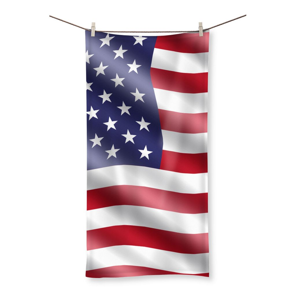 Waving United States Flag Beach Towel Homeware Flagdesignproducts.com