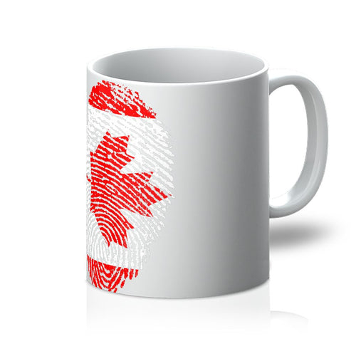 Canada Finger Print Flag Mug Homeware Flagdesignproducts.com