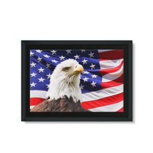 American Eagle And Usa Flag Framed Eco-Canvas Wall Decor Flagdesignproducts.com