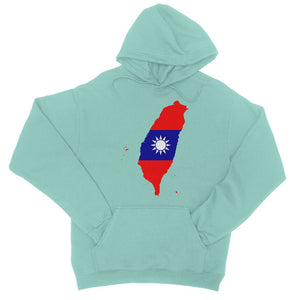 Taiwan Continent Flag College Hoodie Apparel Flagdesignproducts.com