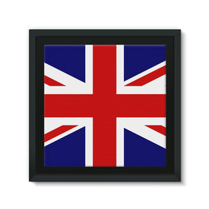 Basic United Kingdom Flag Framed Eco-Canvas Wall Decor Flagdesignproducts.com