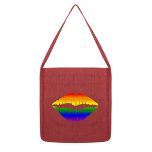 Rainbow Lgbtq Lips Flag Tote Bag Accessories Flagdesignproducts.com