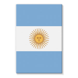 Argentina Flag Stretched Canvas Wall Decor Flagdesignproducts.com
