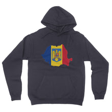 Romania Continent Flag California Fleece Pullover Hoodie
