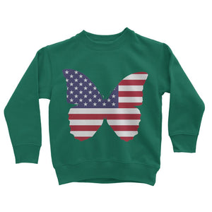 Usa Flag Butterfly Kids Sweatshirt Apparel Flagdesignproducts.com