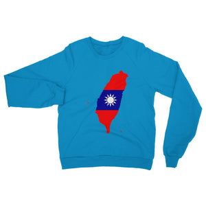 Taiwan Continent Flag Heavy Blend Crew Neck Sweatshirt Apparel Flagdesignproducts.com