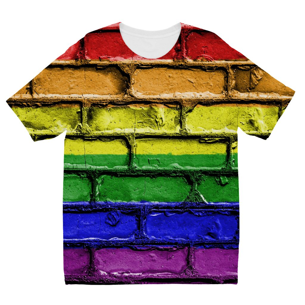 Colorful Lgbt Rainbow Flag Kids Sublimation T-Shirt Apparel Flagdesignproducts.com