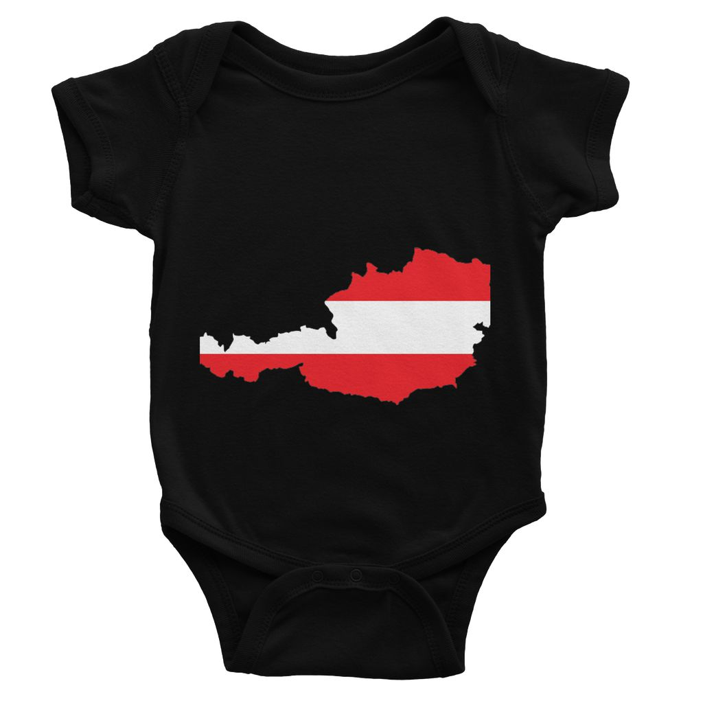 Austria Continent Flag Baby Bodysuit Apparel Flagdesignproducts.com