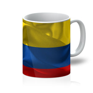 Waving Fabric Colombia Flag Mug Homeware Flagdesignproducts.com