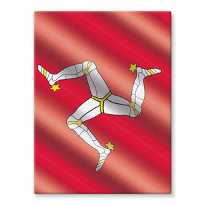 Waving Isle Of Man Flag Stretched Canvas Wall Decor Flagdesignproducts.com