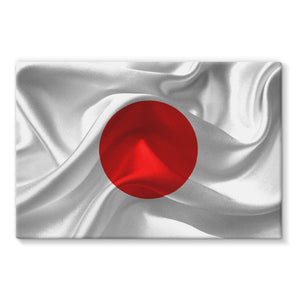 Waving Fabric Japan Flag Stretched Eco-Canvas Wall Decor Flagdesignproducts.com