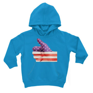 Usa Hand And Finger Flag Kids Hoodie Apparel Flagdesignproducts.com