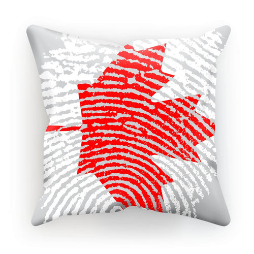 Canada Finger Print Flag Cushion Homeware Flagdesignproducts.com