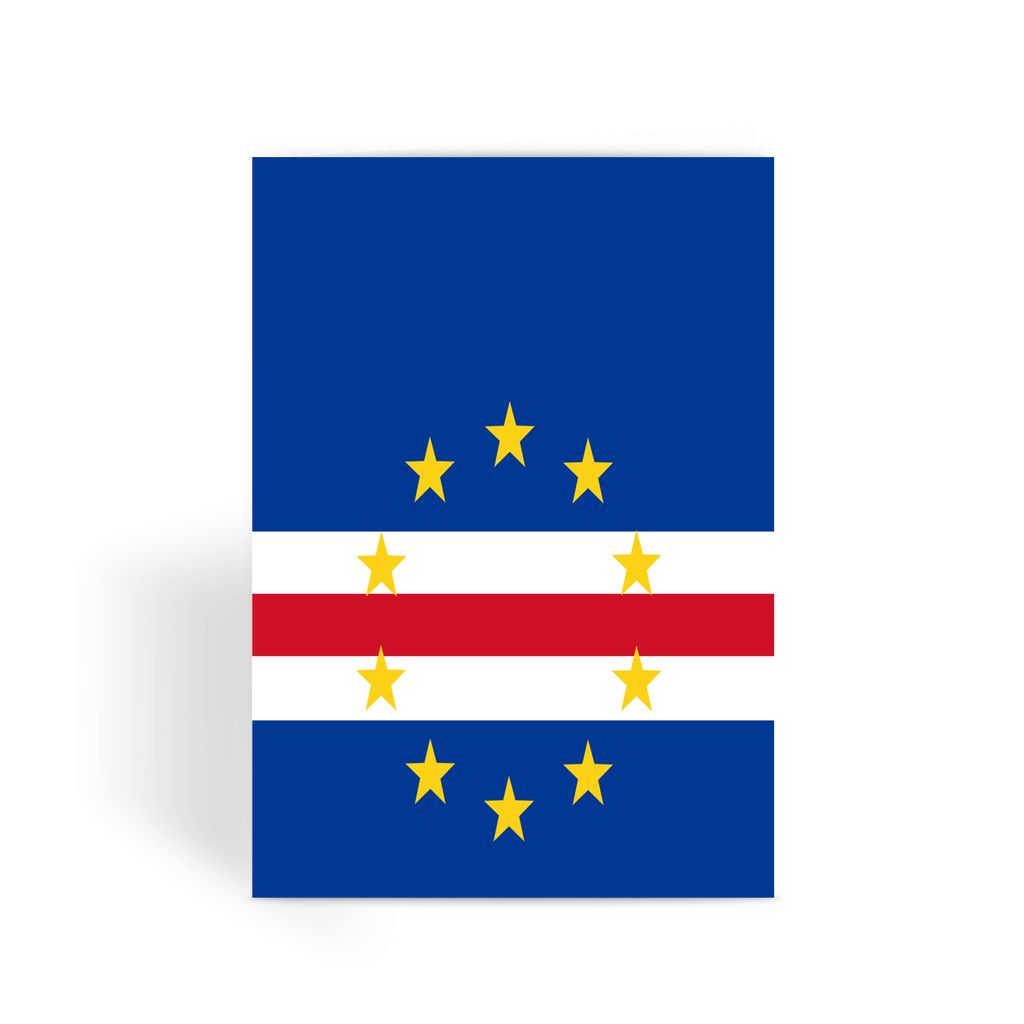 Flag Of Cape Verde Greeting Card Prints Flagdesignproducts.com
