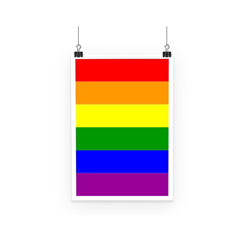 Colorful Rainbow Lgbt Flag Poster Wall Decor Flagdesignproducts.com