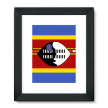 Flag Of Swaziland Framed Fine Art Print Wall Decor Flagdesignproducts.com