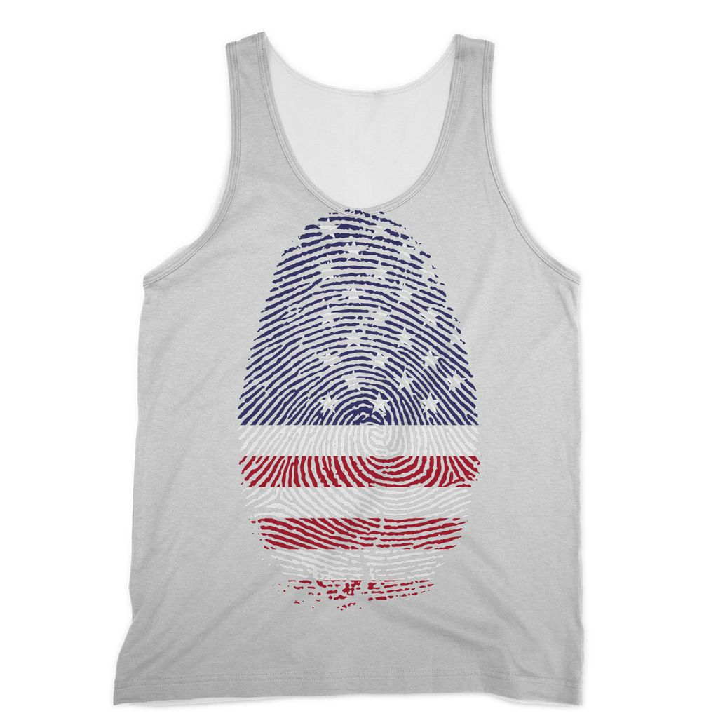 Usa Flag Finger Print Sublimation Vest Apparel Flagdesignproducts.com