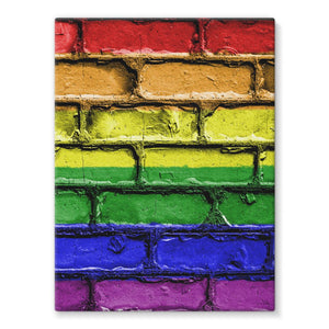 Colorful Lgbt Rainbow Flag Stretched Eco-Canvas Wall Decor Flagdesignproducts.com