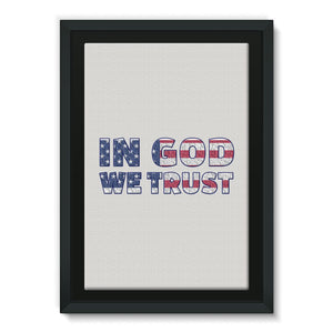 In God We Trust Usa Flag Framed Canvas Wall Decor Flagdesignproducts.com