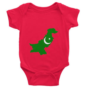 Pakistan Continent Flag Baby Bodysuit Apparel Flagdesignproducts.com