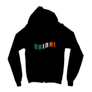Drink Ireland Flag Text Kids Zip Hoodie Apparel Flagdesignproducts.com