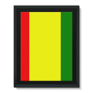 Flag Of Guinea Framed Eco-Canvas Wall Decor Flagdesignproducts.com