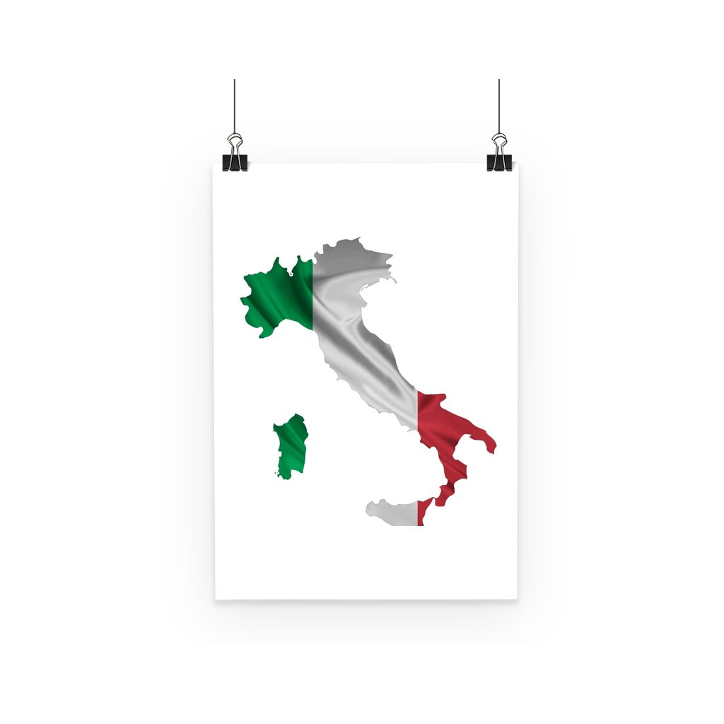 Waving Italy Continent Flag Poster Wall Decor Flagdesignproducts.com