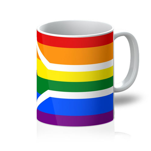 South African Rainbow Flag Mug Homeware Flagdesignproducts.com