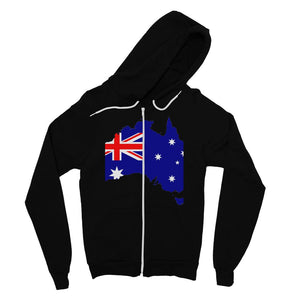Australia Continent Flag Fine Jersey Zip Hoodie Apparel Flagdesignproducts.com
