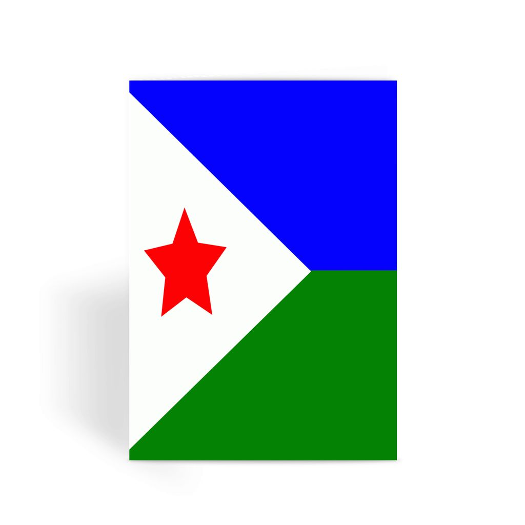 Flag Of Djibouti Greeting Card Prints Flagdesignproducts.com
