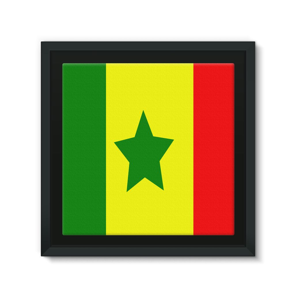 Flag Of Senegal Framed Canvas Wall Decor Flagdesignproducts.com
