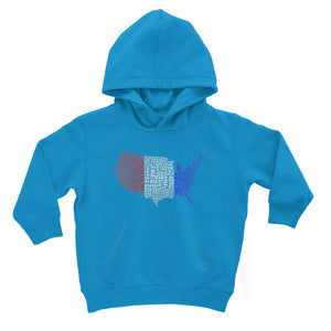 Usa Text Continent Flag Kids Hoodie Apparel Flagdesignproducts.com