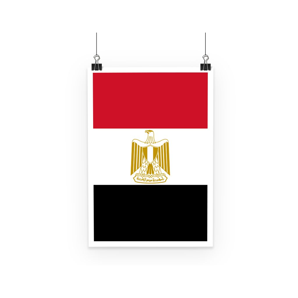 Basic Egypt Flag Poster Wall Decor Flagdesignproducts.com