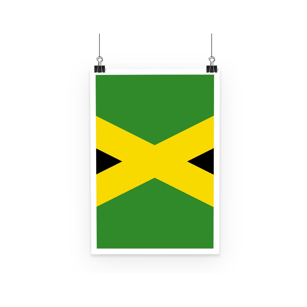 National Flag Of Jamaica Poster Wall Decor Flagdesignproducts.com